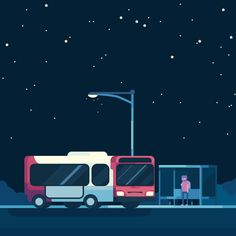 Last bus home. #publictransport for Vector Dailies