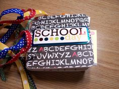 School Days Premade Mini Scrapbook Album School by HampshireRose, $30.00