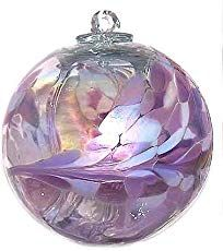 """Witch Ball """"Lavender Lilly""""TM Iridized by Iron Art Glass Designs * Continue to the product at the image link. Mosaic Glass, Fused Glass, Stained Glass, Purple Christmas, Christmas Bulbs, Christmas Colors, Blown Glass Art, Iron Art, Glass Ball"""