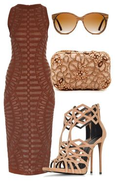 Untitled #266 by samstyles001 on Polyvore featuring polyvore fashion style Balmain Giuseppe Zanotti Alice + Olivia Shwood clothing