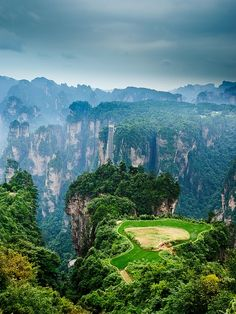 Tianzi Mountain, Zhangjiajie in the Hunan Province of China #travel