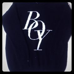 Forever 21 black small boy sweater Black sweater that says boy in white. Size small Forever21 Sweaters Crew & Scoop Necks