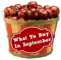 Vegetables & Fruit In Season: September Grocery Store Trends 2013