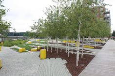 River frontage at Erie Street Plaza / Stoss Landscape Urbanism