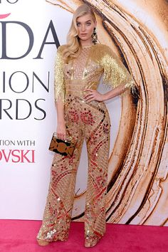 Elsa Hosk from 2016 CFDA Fashion Awards: Red Carpet Arrivals We are loving this jumper worn by the Victoria's Secret angel. Jamie Chung, Alexa Chung, Sparkly Jumpsuit, Sequin Jumpsuit, Michelle Monaghan, Joan Smalls, Mary Kate Olsen, Jennifer Hudson, Anna Wintour