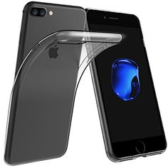 cool Simpeak Clear Case for iPhone 7 Plus Soft TPU Transparent Slim Fit Protector Case,Drop Protection, Anti Slip,Scratch Resistant,2Pack