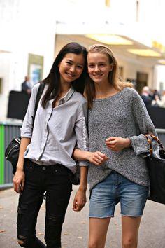 Estelle Chen and Baya Kolarikova, Paris July 2015