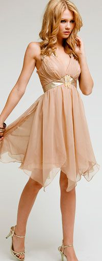 """vestidos de noche para fiestas formal -- i think that means this is some sort of formal dress ? that's gotta be spanish. I see """"night"""" and """"party"""" . Dama Dresses, Event Dresses, Short Dresses, Prom Dresses, Vetement Fashion, Bleu Turquoise, Bleu Marine, Classy Dress, Chiffon Dress"""