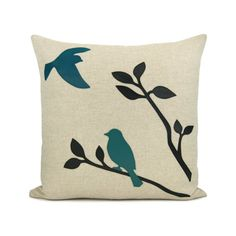 16x16 decorative pillow cover Love birds throw by ClassicByNature