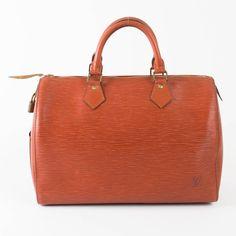 Vintage Louis Vuitton Speedy 25 In Epi Brown