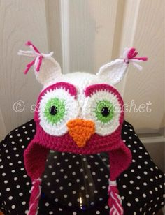 Hey, I found this really awesome Etsy listing at https://www.etsy.com/listing/104620871/owl-beanie-owl-hat-crochet-owl-crochet