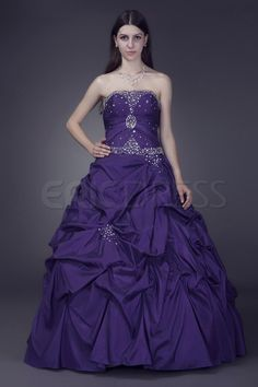 Luxurious Ball Gown Sleeveless Sweetheart Floor-length Anderai's…