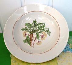 Vintage USSR Latvia Porcelain Riga Factory RPR soup white plate bowl gold trim