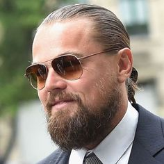 DiCaprio Thick Beard with Long Hair