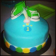1st Birthday boy cake