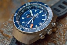 Swiss Design Watches: The Big Blue---Omega Seamaster Automatic 120m Chronograph