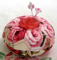 Pincushion Rosy Hexies