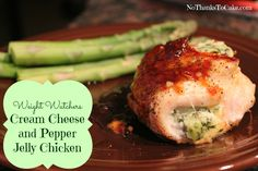 Weight Watchers Cream Cheese and Pepper Jelly Chicken | No Thanks to Cake