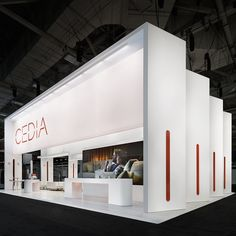 Exhibition design for the leading home technology association. Exhibition Stall Design, Exhibition Display, Exhibition Space, Exhibition Stands, Exhibit Design, Trade Show Design, Display Design, Bureau Design, Temporary Architecture