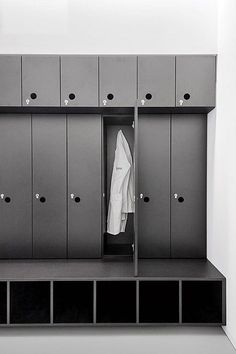 Staff Lockers, Built In Lockers, Gym Lockers, Gym Interior, Interior Design, Dance Studio Design, Locker Designs, Staff Room, Built In Furniture