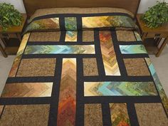 Autumn Paths Quilt -- great meticulously made Amish Quilts from Lancaster (hs6116)  **it's like it's lit from underneath.  What color choices!!!  DeR