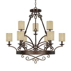 "Capital Lighting C4169RT510 ""Reserve"" Large Foyer Chandelier Shop.Ferguson.com!  $1195.00"
