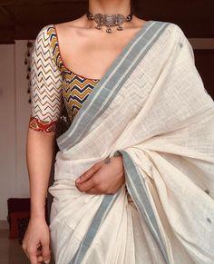 Saree Blouse Neck Designs, Fancy Blouse Designs, Stylish Dress Designs, Indian Bridal Fashion, Indian Fashion Dresses, Indian Designer Outfits, Trendy Sarees, Stylish Sarees, Saree Trends