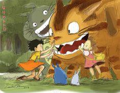 """Tonari no Totoro (となりのトトロ) translated """"My Neighbor Totoro"""" is Studio Ghibli animated fantasy film which was written and directed by Hayao Miyazaki. ..."""