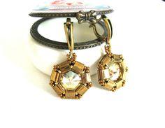 Ohrhänger - Ohrhänger *Golden shadow & Bronze* vintage ... - ein Designerstück von NataKoma bei DaWanda