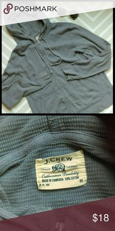 {Mens} J. Crew Vintage thermal hoodie In great condition. Very warm thermal to wear all winter long. The color is a light gray with a tint of purple. Has a vintage faded look to it. From a smoke and pet free home. I ship fast!  *Bundle and save 10%  *No trades  *All offers considered J. Crew Factory Shirts Sweatshirts & Hoodies
