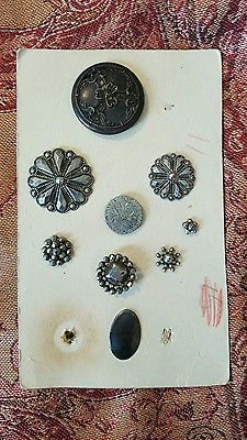 Assorted vintage marcasite and metal buttons