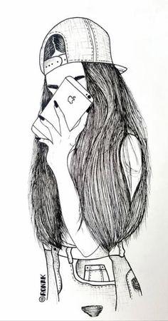 New beautiful art drawings sketches pens ideas - Art Sketches Tumblr Drawings, Dark Art Drawings, Art Drawings Beautiful, Tumblr Art, Hipster Drawings, Couple Drawings, Easy Drawings, Girl Drawing Sketches, Girl Sketch