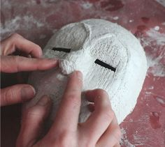 Plaster African Mask art project for kids