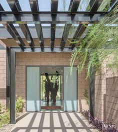 Modern Neutral Entry with Exposed Steel Beams