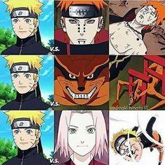 Yep Naruto never won against Sakura
