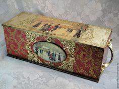"""Купить Коробка """"Ретро"""" - короб, шкатулка, ретро, Новый Год, рождество, подарок на новый год, презент"""