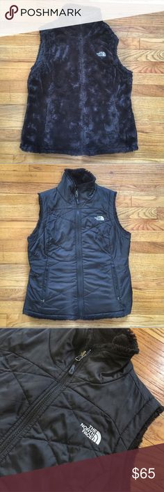 North Face Reversible Vest Black reversible vest. Purchased on posh but it was just a little small. Perfect condition. North Face Jackets & Coats Vests