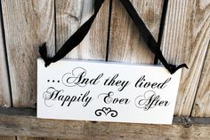 Double Sided Flower Girl Sign Here Comes my Mommy Wedding and they lived happily ever after wedding Sign on Etsy, $37.95