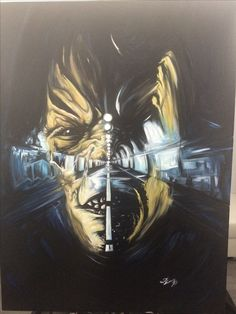 Horror art . Oil painting .Lukas Art wuppertal