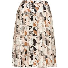 Oscar De La Renta Graphic-print pleated skirt (41.340 RUB) ❤ liked on Polyvore featuring skirts, bottoms, saias, oscar de la renta, pink multi, accordion skirt, knee length pleated skirt, pastel skirt, chiffon knee length skirt and chiffon pleated skirt