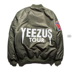 New fashion Jacket Hip Hop Men Brand YEEZUS Jacket Camouflage Air Force  Flight Bomber Jacket Men Kanye West Jacket yeezy 23468d5aeef