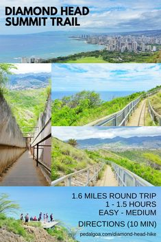 Hiking Hawaii: Diamond Head Hike. US hiking trails, Oahu hikes for Hawaii vacation! Best Oahu hiking trails give you things to do near beaches for swimming, snorkeling! List, planning tips from Waikiki, Honolulu. Morning hiking, afternoon shopping, eating food at restaurants! Outdoor travel destinations for the bucket list for budget adventures! Add outfits, what to wear in Hawaii, what to pack for Hawaii packing list. Oahu hikes pocket guide, Oahu travel guide book pdf, map. #hawaii #oahu