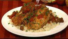 the chew | Recipe  | Michael Symon's Chicken And Sausage With Couscous