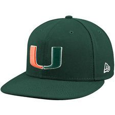 New Era Miami Hurricanes Green 59FIFTY Fitted Hat - NCAA