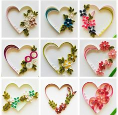 Paper Quilling Earrings, Quilling Letters, Paper Quilling Flowers, Paper Quilling Cards, Paper Quilling Patterns, Quilled Paper Art, Quilling Paper Craft, Paper Crafts, Paper Quilling For Beginners