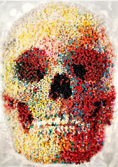 Angels with Dirty Face , Skull Made of 10,000 Burning Candles