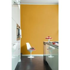 Dulux Kitchen Honey Mustard - Matt Emulsion Paint - don't be afraid to be bold! One of this seasons most popular colours, add the richness of Honey Mustard to your kitchen to create a modern and inviting living space
