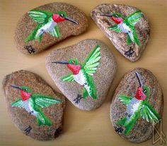 Rock - Ruby Throat Hummingbird by ~leiko on deviantART