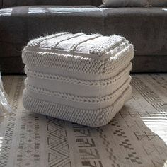 Give your home a fine addition to your home decor by choosing this beautiful Decor Therapy Winifred Natural Cream Square Pouf. Cream Furniture, Living Room Furniture, Dining Rooms, Furniture Styles, Furniture Deals, Square Pouf, Pouf Ottoman, Eclectic Decor, Stripes Design