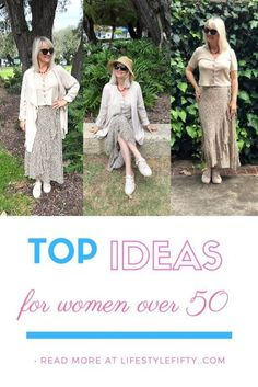 Get the Look! New looks for women over 50. Tips for looking great at any age. #fabover50 #style #fashionpost #lookgreat #styletips #fashion #womensfashion #outfits Fashion Killa, Fashion Addict, Get The Look, New Look, Tie Skirt, Fifties Fashion, Top Blogs, Print Wrap, Boho Look